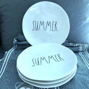 Rae Dunn SUMMER Melamine Plates
